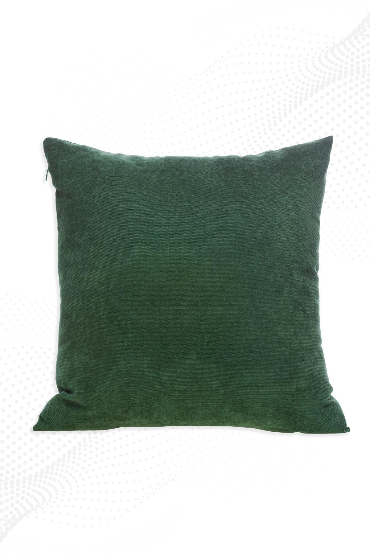 Yeşil Kırlent Kılıfı Dekoratif Düz Sade Panoroma-588