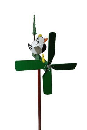 Rüzgaristan Ahşap Rüzgar Gülü Kısa Boyun Ördek 0