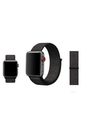 Zore Apple Watch 1 2 3 4 5 Serisi 42mm Kordon Spor Loop Hasır Cırt Cırtlı Kayış 1