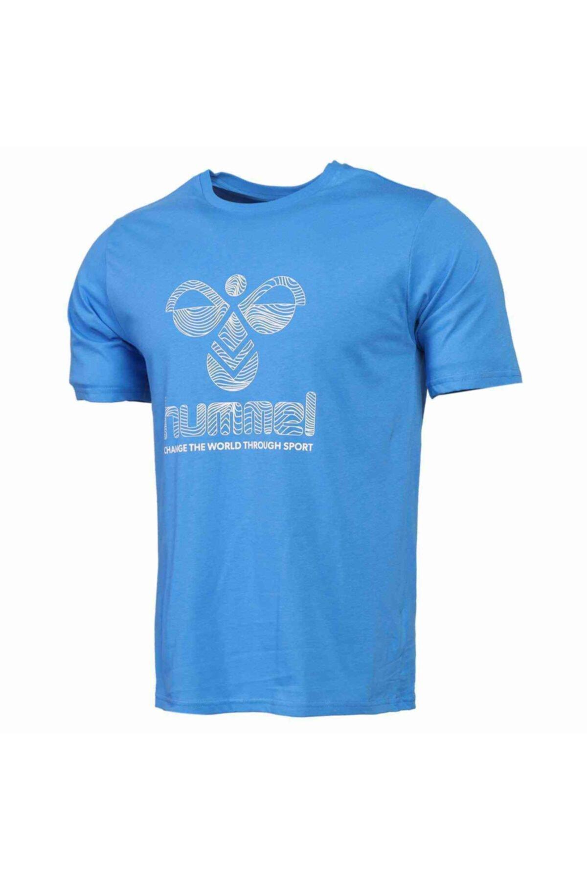 HMLWAVO Mavi Erkek T-Shirt 101085898