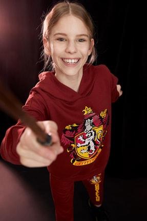 Defacto Kız Çocuk Harry Potter Lisanslı Sweatshirt 0