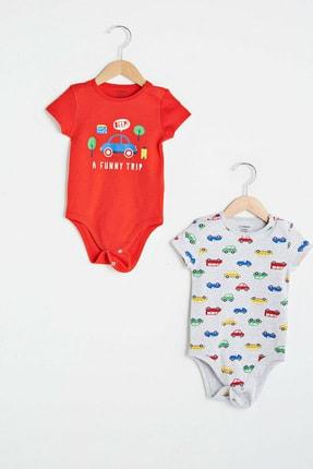 LC Waikiki Erkek Bebek Canlı Kırmızı Hc3 Bebek Body & Zıbın 1