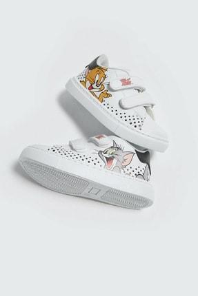 LC Waikiki Tom&Jerry Erkek Bebek Beyaz J5E Sneaker 3