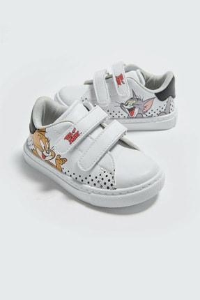 LC Waikiki Tom&Jerry Erkek Bebek Beyaz J5E Sneaker 4