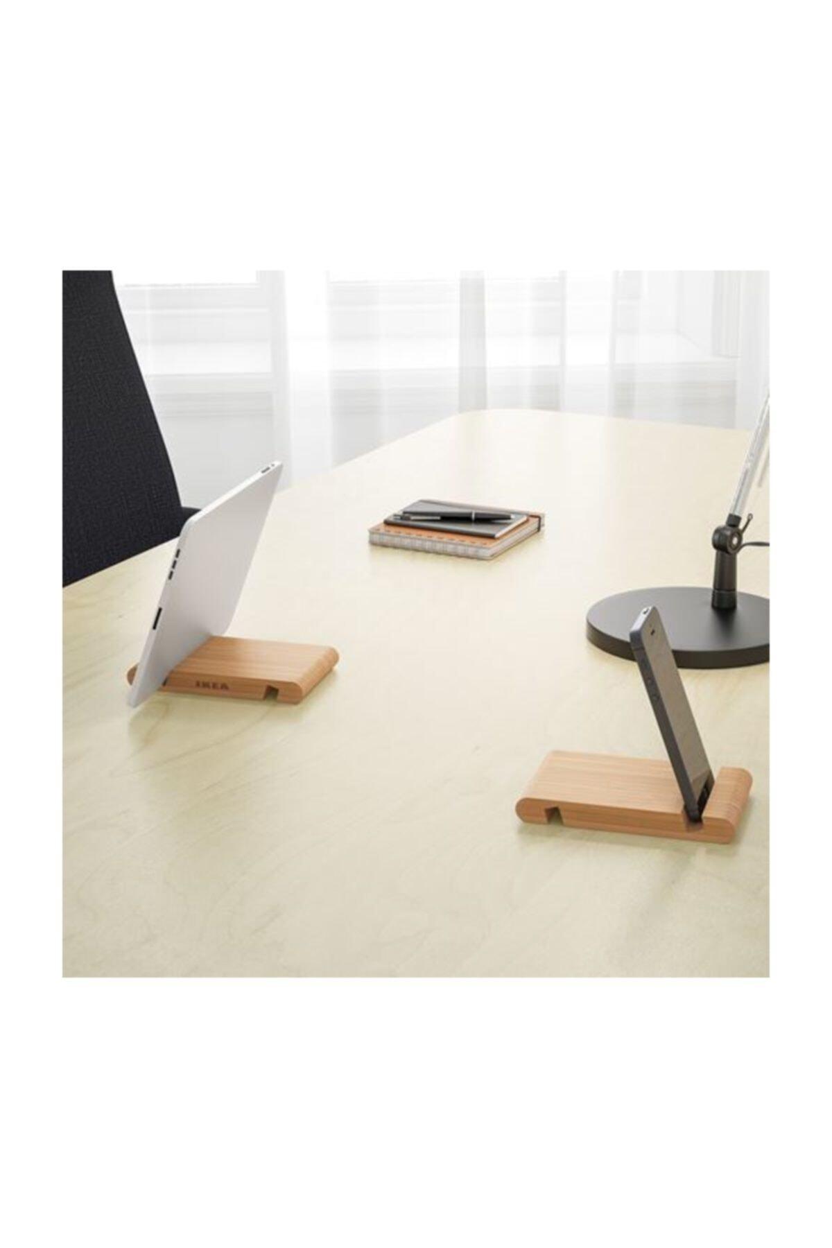 Area Online Bergenes Bambu Cep Telefonu Tablet Tutucu Stand 2'li Paket