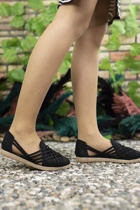 Riccon Kadın Siyah Süet Günlük Ayakkabı 0012or01 4
