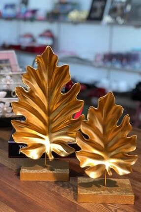 Kokosh Home Altın Dekoratif Amazon Obje 2'li 0