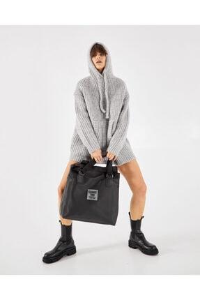 Shule Bags Patlı Kadın Omuz Shopper Çanta Vicky Siyah 1