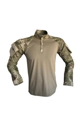 Flaş Askeri Malzeme Erkek Yeşil Tsk Yeni Kamuflaj Combat Tişört Operasyon Tişörtü 0