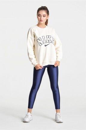 Modayıldızlar Kadın Krem Nike Yazılı Sweatshirt 0