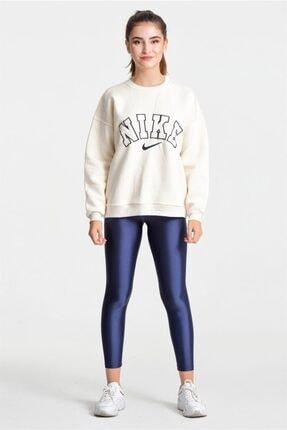 Modayıldızlar Kadın Krem Nike Yazılı Sweatshirt 1