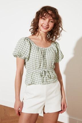 TRENDYOLMİLLA Mint Petite Bağlama Detaylı Bluz TWOSS21BZ1526 2