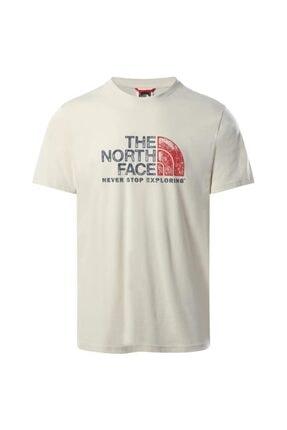 The North Face Erkek Tnf S S Rust 2 Tee Beyaz Tshırt Nf0a4m6811p1 0