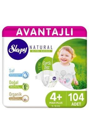 Sleepy Natural Avantajlı Bebek Bezi 4+ Numara Maxi Plus 104 Adet 0
