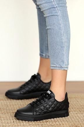 Pembe Potin Kadın Siyahsiyah Sneakers 2