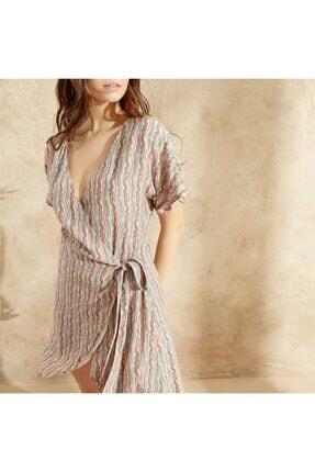 Yargıcı Kadın Turuncu Bağlama Detaylı Elbise 0