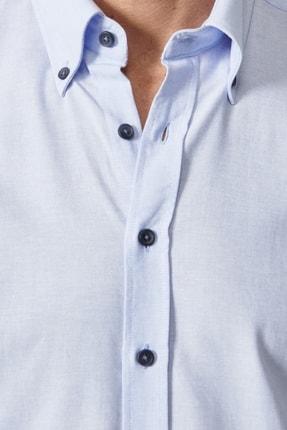Altınyıldız Classics Erkek Açık Mavi Düğmeli Yaka Tailored Slim Fit Oxford Gömlek 1