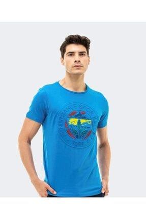 Picture of Erkek Mavi Fenerbahçe Kabartma Logolu Tshırt Tk010e9s02