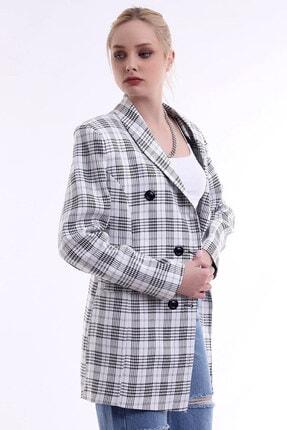 R&M Collection Özel Tasarım, Düğmeli, Cep Kapaklı, Sezon Trendi, Kare Blazer Ceket 4