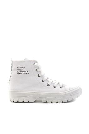 Bambi Beyaz Kadın Sneaker K01530110818 1