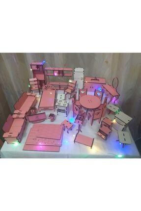 EDKZEKA -led Işıklı Ahşap Oyun Evi-büyük Boy (76cm X 57cm X 25cm) 3
