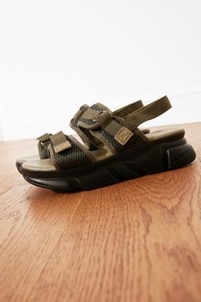 TRENDYOLMİLLA Haki Kadın Sandalet TAKSS21SD0024 1