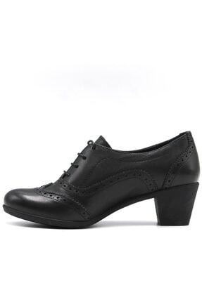 Mammamia Kadın Siyah Günlük Deri Ayakkabı 3220b 3