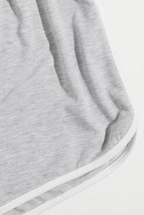 Imoda Kadın Gri Askılı Pamuklu Pijama Takımı 3