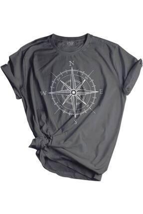 GENIUS Store Unisex Baskılı Tişört Outdoor Normal Kalıp Tshirt 0