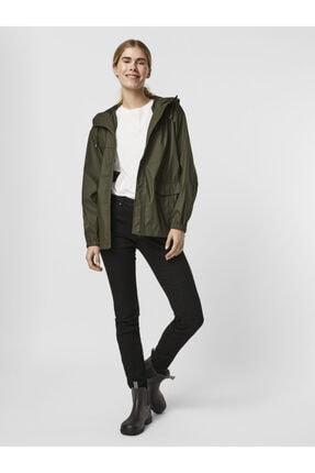 Vero Moda Kadın Yeşil Kapüşonlu Yağmurluk 1