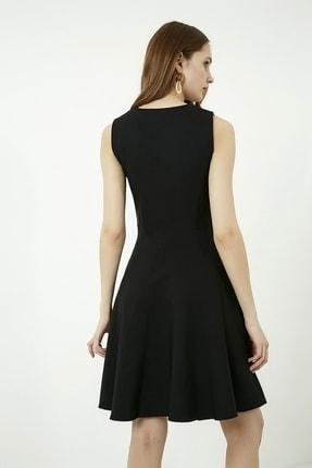 Vis a Vis Kadın Siyah Kolsuz Kloş Elbise 3
