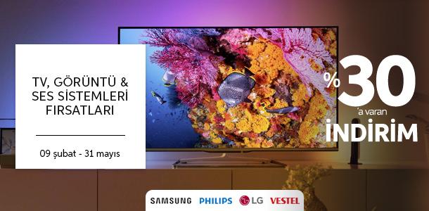 TV, Görüntü & Ses Sistemleri Fırsatları
