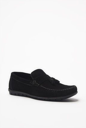 Hotiç Hakiki Deri Siyah Loafer Ayakkabı 02AYH206200A100 1
