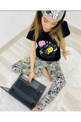 Kadın Pijama Takımı Pijama sıyah