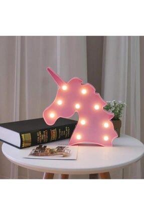 Lumenn Unicorn Pembe 3d Led Işıklı Gece Lambası-çocuk Bebek Odası Dekoratif Masa Led Aydınlatma 3