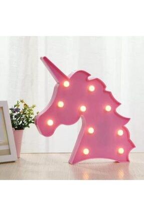 Lumenn Unicorn Pembe 3d Led Işıklı Gece Lambası-çocuk Bebek Odası Dekoratif Masa Led Aydınlatma 4