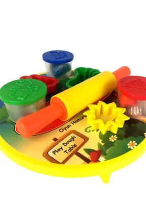 Play Dough 8 Parça Sofralı Merdaneli Kalıplı Oyun Hamuru Seti 1