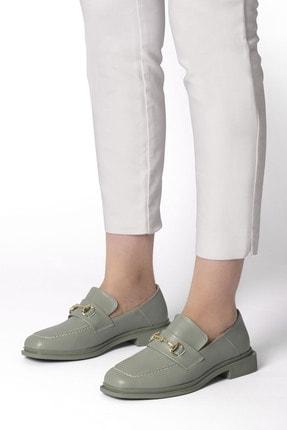 Marjin Races Kadın Loafer Ayakkabıyeşil 4