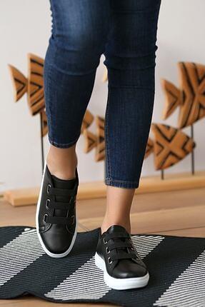 tomms Kadın Bağcık Lastik Detaylı Sneaker Spor Ayakkabı Lona-55 3