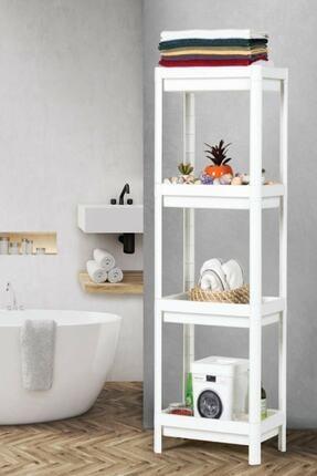 SHELF UNIT Beyaz Banyo Rafı 0