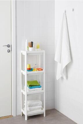 SHELF UNIT Beyaz Banyo Rafı 1