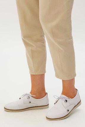 Marjin Kadın Beyaz Hakiki Deri Comfort Ayakkabı Demas 3