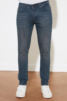 TRENDYOL MAN Indigo Erkek Denim Skinny Jeans TMNAW20JE0407 3