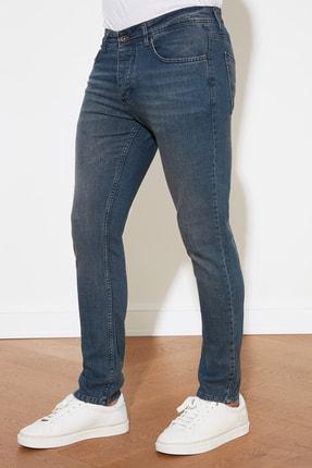 TRENDYOL MAN Indigo Erkek Denim Skinny Jeans TMNAW20JE0407 2