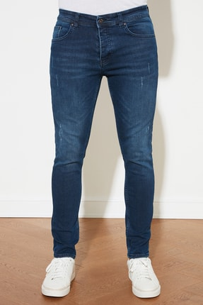 TRENDYOL MAN Mavi Erkek Skinny Jeans TMNAW20JE0403 2