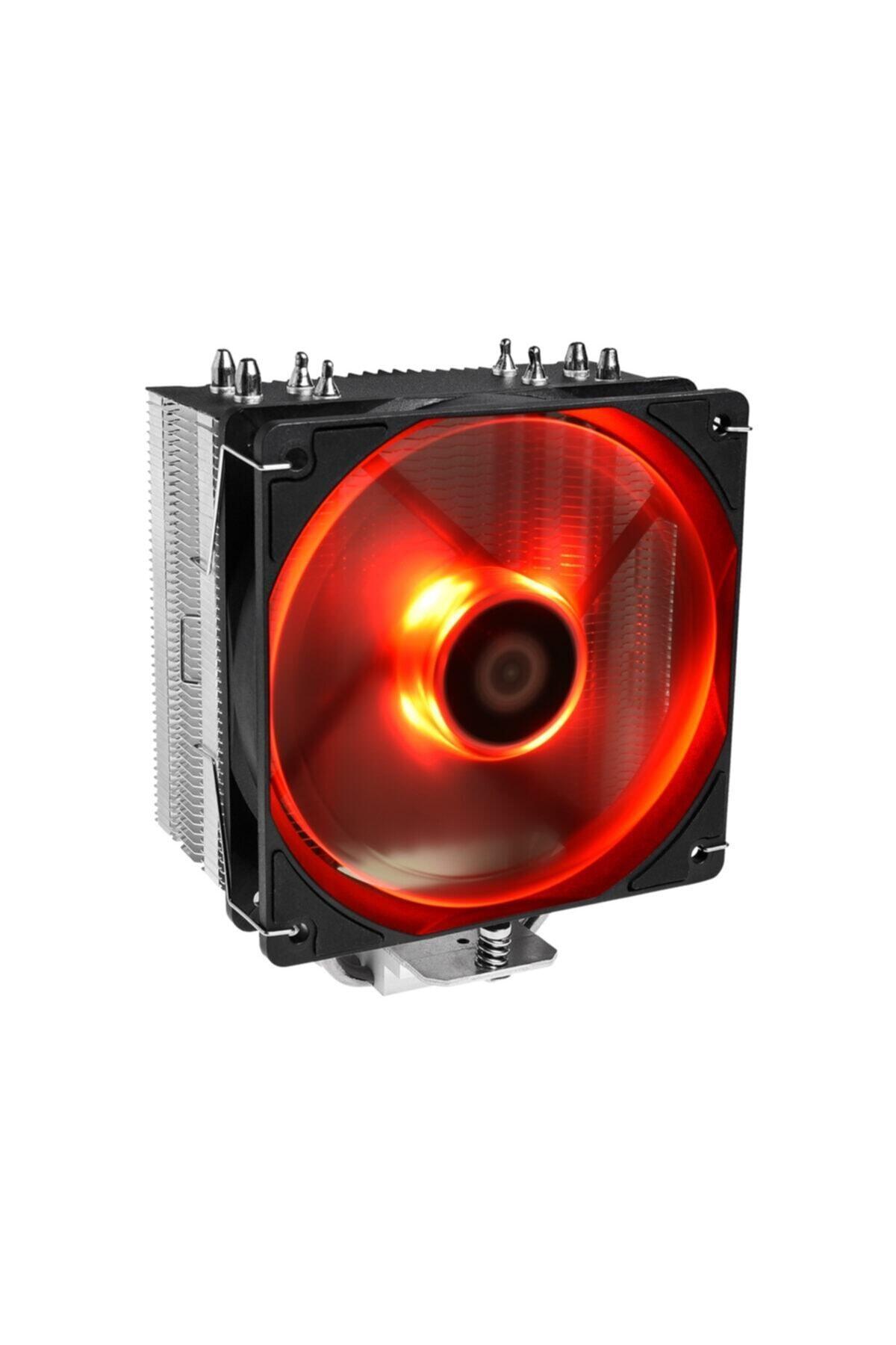 ID-COOLİNG Id-coolıng Se-224-xt Red 120mm 4pin Pwm Kırmızı Ledli Işlemci Soğutucu