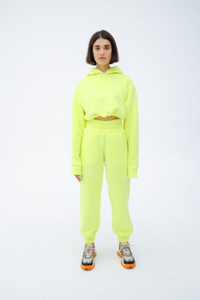 Fineapple Neon Sarı Eşofman Alt 2