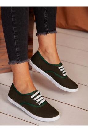 ayakkabıhavuzu Kadın Haki Spor Ayakkabı 0
