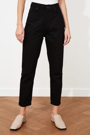 TRENDYOLMİLLA Siyah Yüksek Bel Mom Jeans TWOAW20JE0129 3