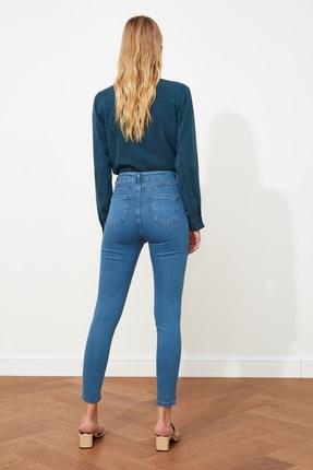 TRENDYOLMİLLA Mavi Yüksek Bel Skinny Jeans TWOSS20JE0301 4
